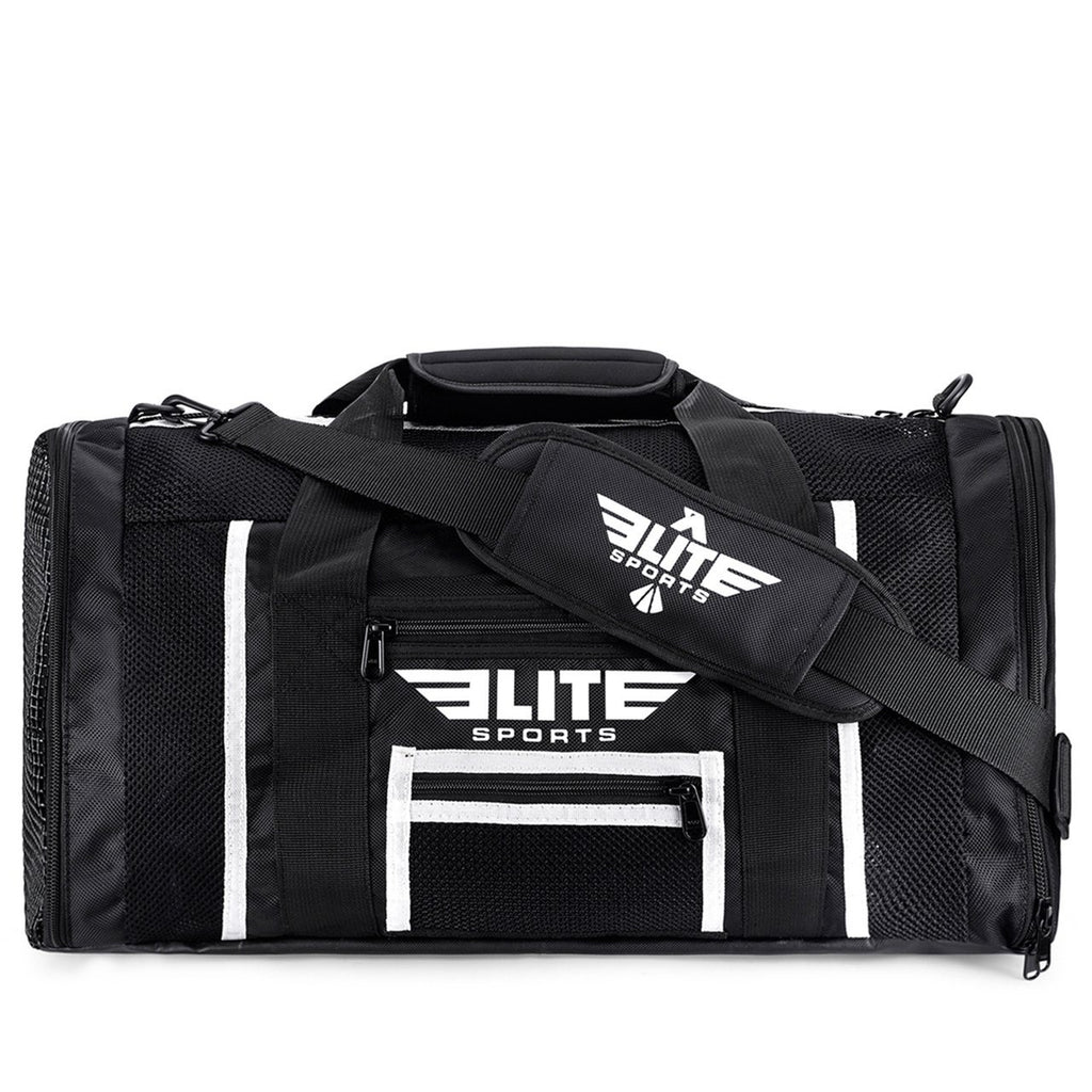 Elite Sports Mesh Black Large Judo Gear Gym Bag
