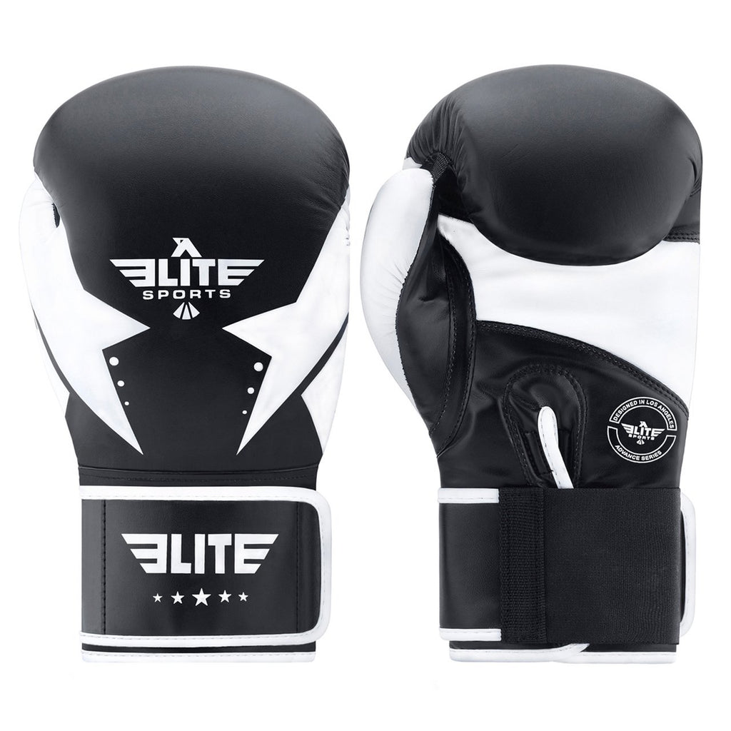 Elite Sports Star Series Black/White Adult Boxing Gloves