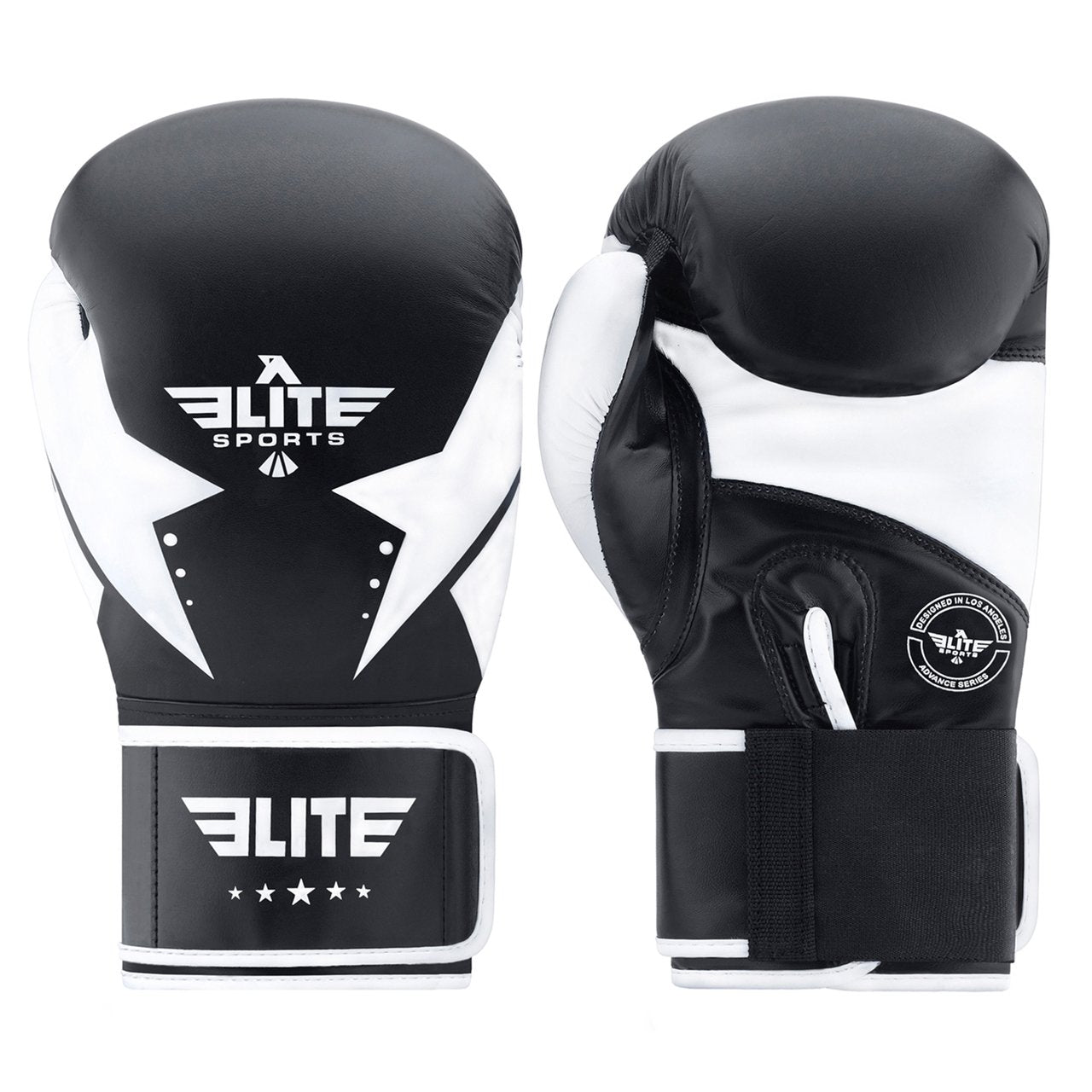 Load image into Gallery viewer, Elite Sports Star Series Black/White Adult Boxing Gloves
