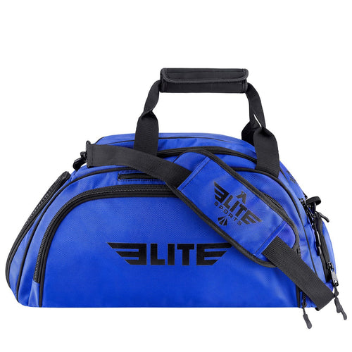 Elite Sports Warrior Series Blue Large Duffel Brazilian Jiu Jitsu BJJ Gear Gym Bag & Backpack