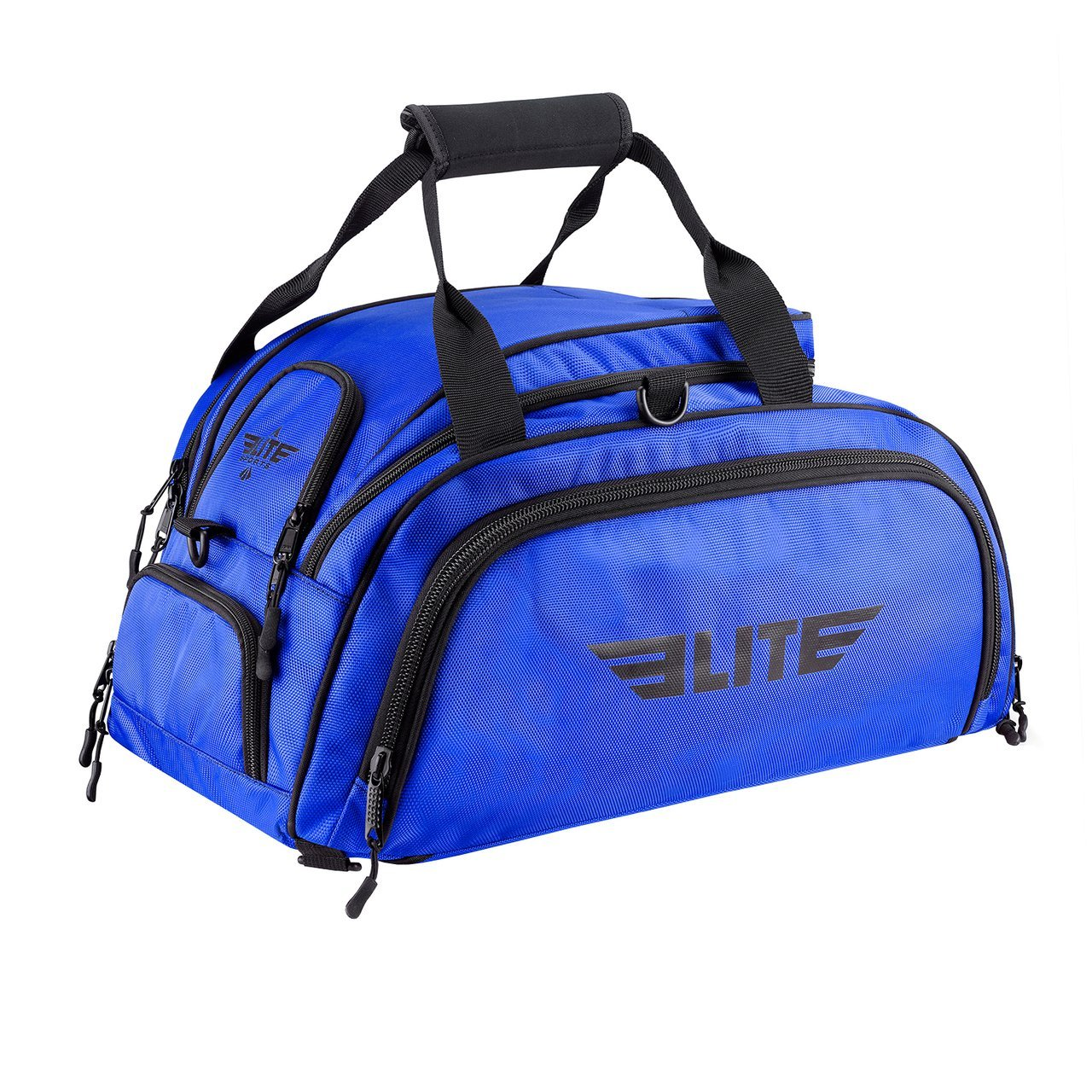 Load image into Gallery viewer, Elite Sports Warrior Series Blue Large Duffel Boxing Gear Gym Bag & Backpack