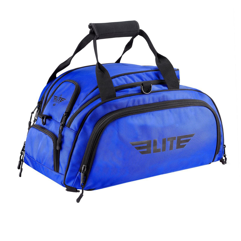 Elite Sports Warrior Series Blue Medium Duffel Karate Gear Gym Bag & Backpack