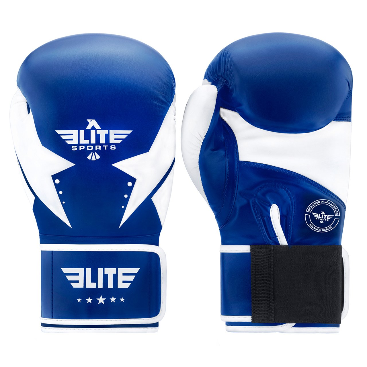 Load image into Gallery viewer, Elite Sports Star Series Blue/White Adult  Boxing Gloves