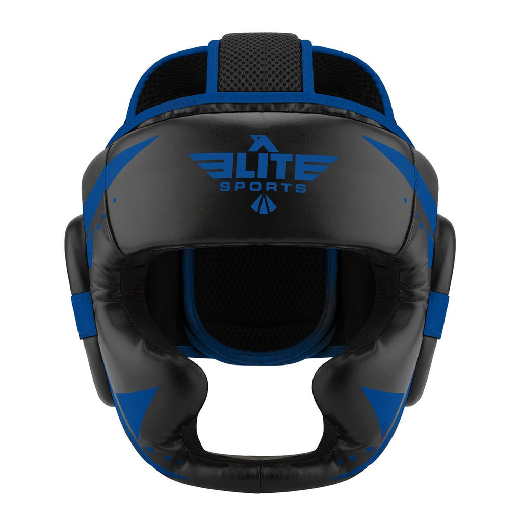 Elite Sports Star Series Sparring Black/Blue Boxing Headgear