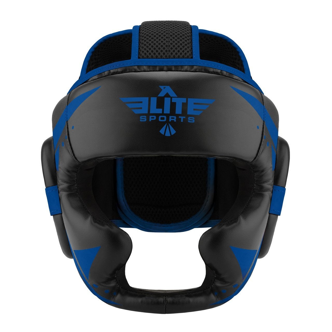 Elite Sports Star Series Sparring Black/Blue Karate Headgear