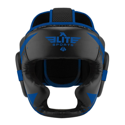 Elite Sports Star Series Sparring Black/Blue Wrestling Headgear