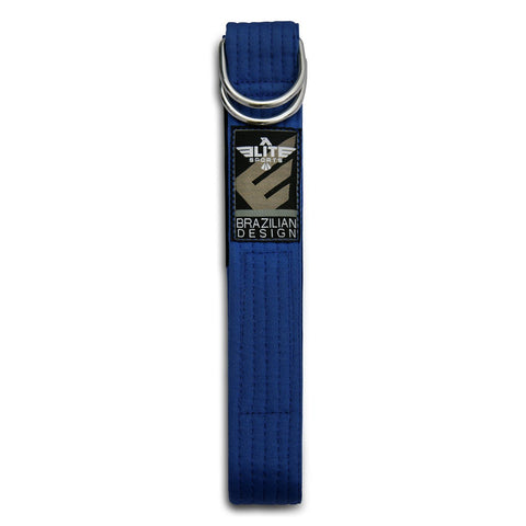 Elite Sports Adult Brazilian Jiu Jitsu BJJ Blue Belt with Buckle