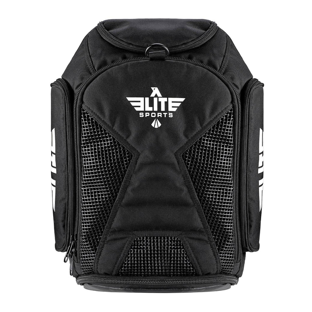 Elite Sports Athletic Convertible Black Training Gear Gym Bag & Backpack