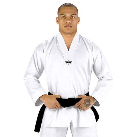 Elite Sports Ultra Light Preshrunk White Adult Taekwondo - TKD Gi