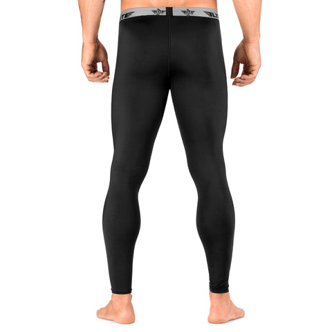 Elite Sports Plain Black Compression Taekwondo Spat Pants