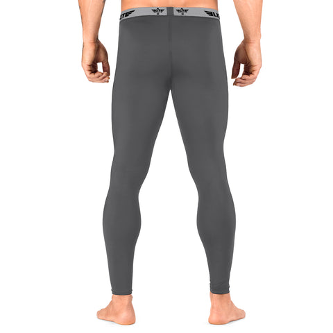 Elite Sports Plain Gray Compression MMA Spat Pants