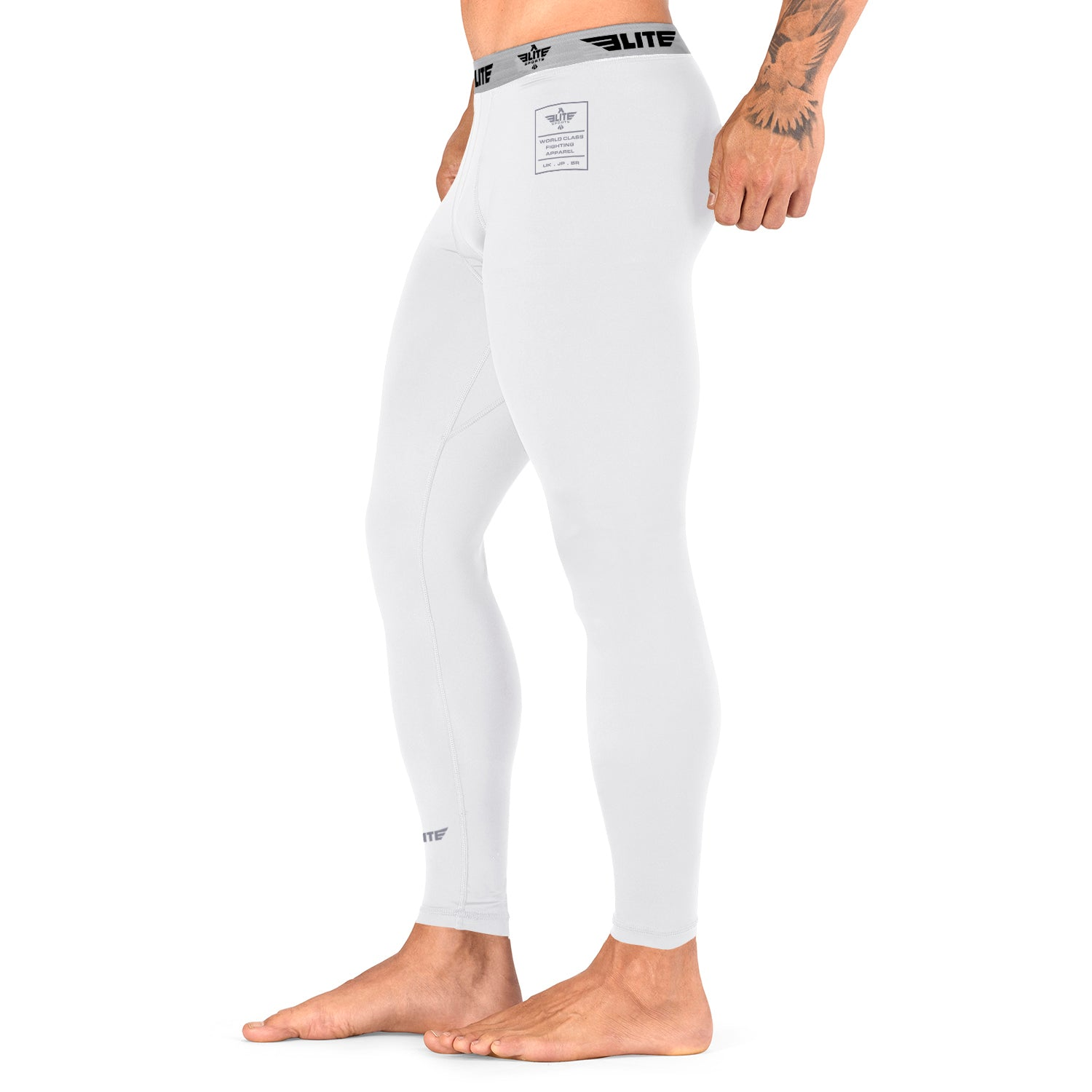 Load image into Gallery viewer, Elite Sports Plain White Compression Training Spat Pants