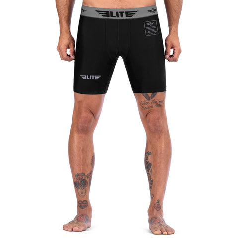 Elite Sports Black Compression Brazilian Jiu Jitsu BJJ Shorts