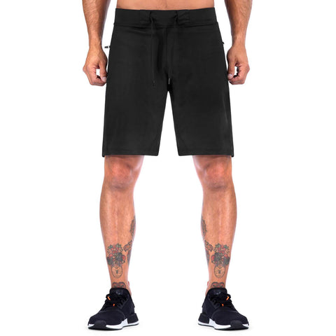 Elite Sports Mens Plain Sublimation Black Crossfit Shorts