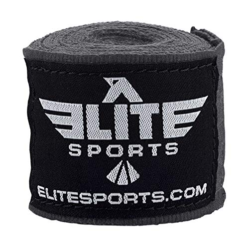 Elite Sports Gray Muay Thai Hand Wraps
