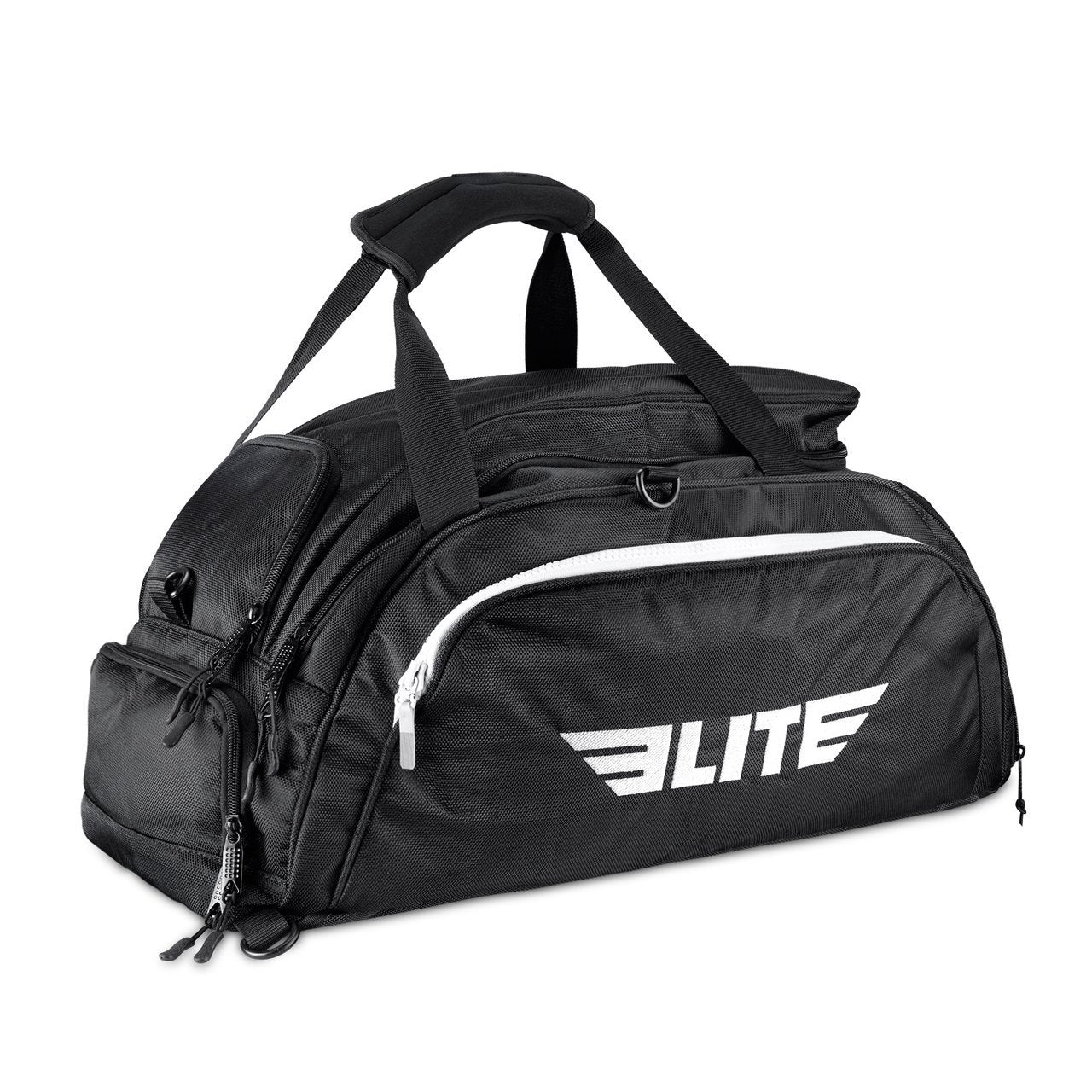Load image into Gallery viewer, Elite Sports Warrior Series Black Large Duffel MMA Gear Gym Bag & Backpack