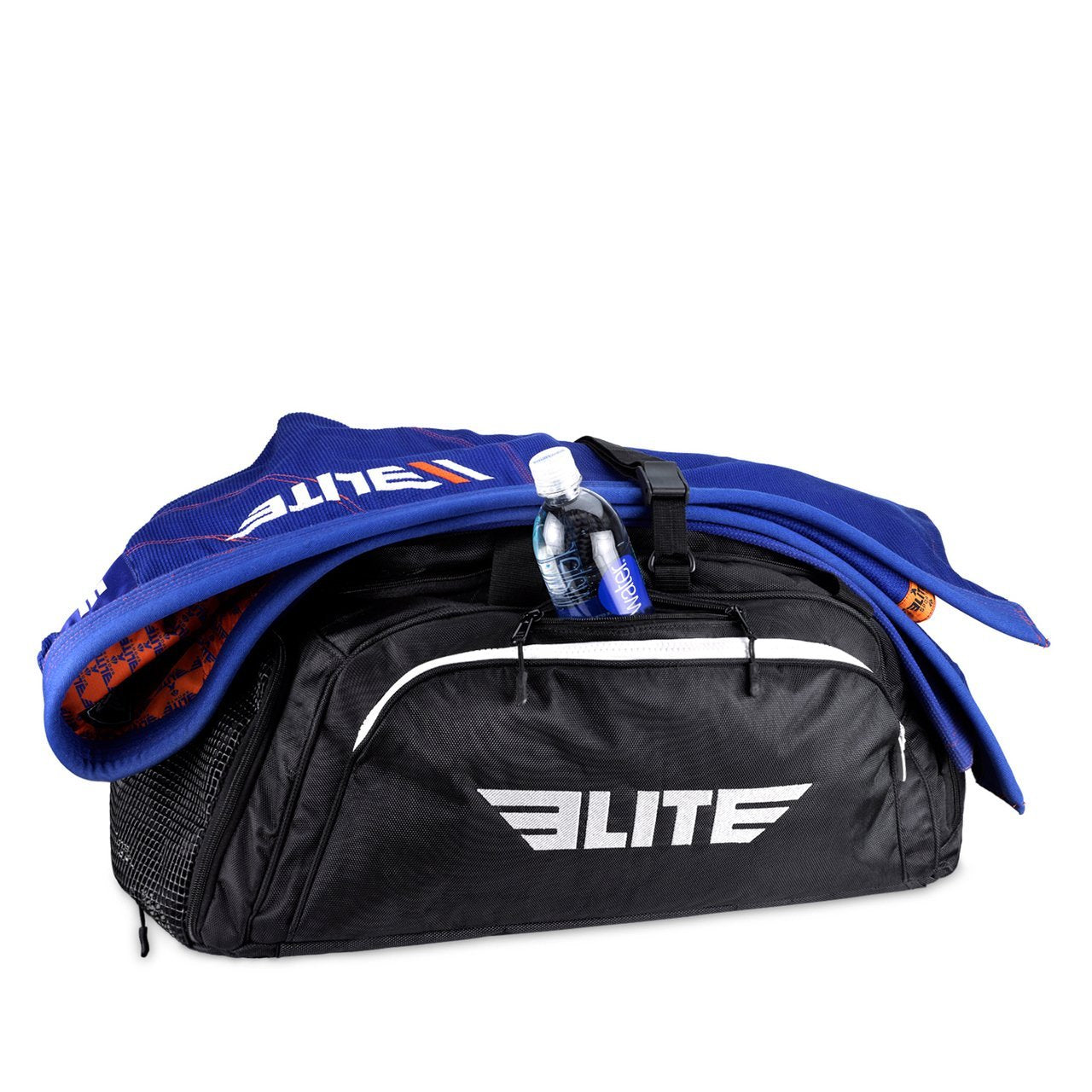 Load image into Gallery viewer, Elite Sports Warrior Series Black Large Duffel Muay Thai Gear Gym Bag & Backpack