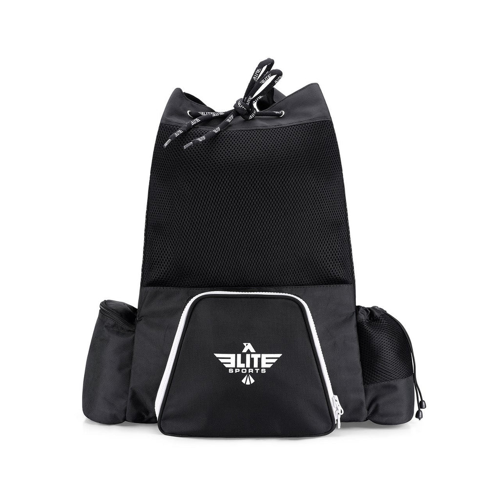Elite Sports Mesh Black Medium Boxing Gear Gym Bag & Backpack