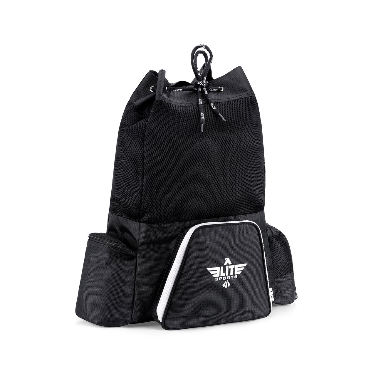 Load image into Gallery viewer, Elite Sports Mesh Black Medium Muay Thai Gear Gym Bag & Backpack