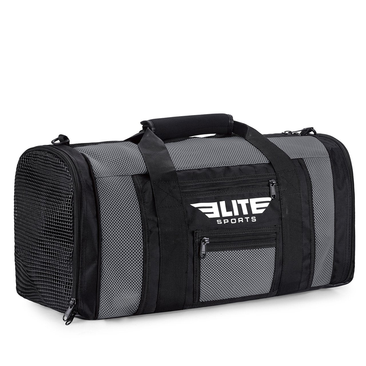 Load image into Gallery viewer, Elite Sports Mesh Gray Large Boxing Gear Gym Bag