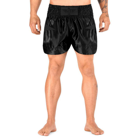 Elite Sports Star Series Sublimation Black/Black Muay Thai Shorts