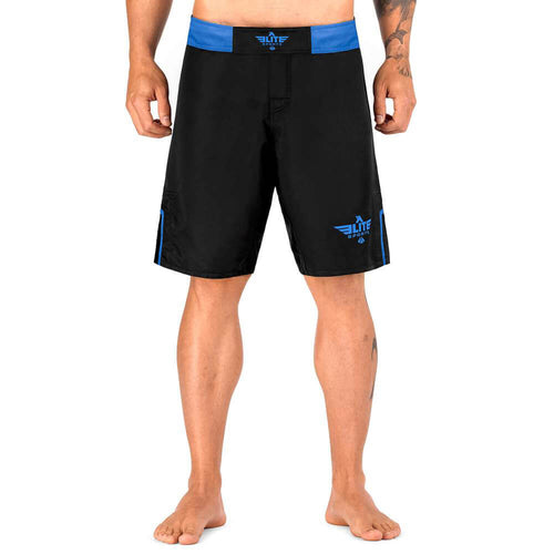 Elite Sports Black Jack Series Black/Blue Training Shorts