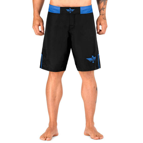 Elite Sports Black Jack Series Black/Blue MMA Shorts