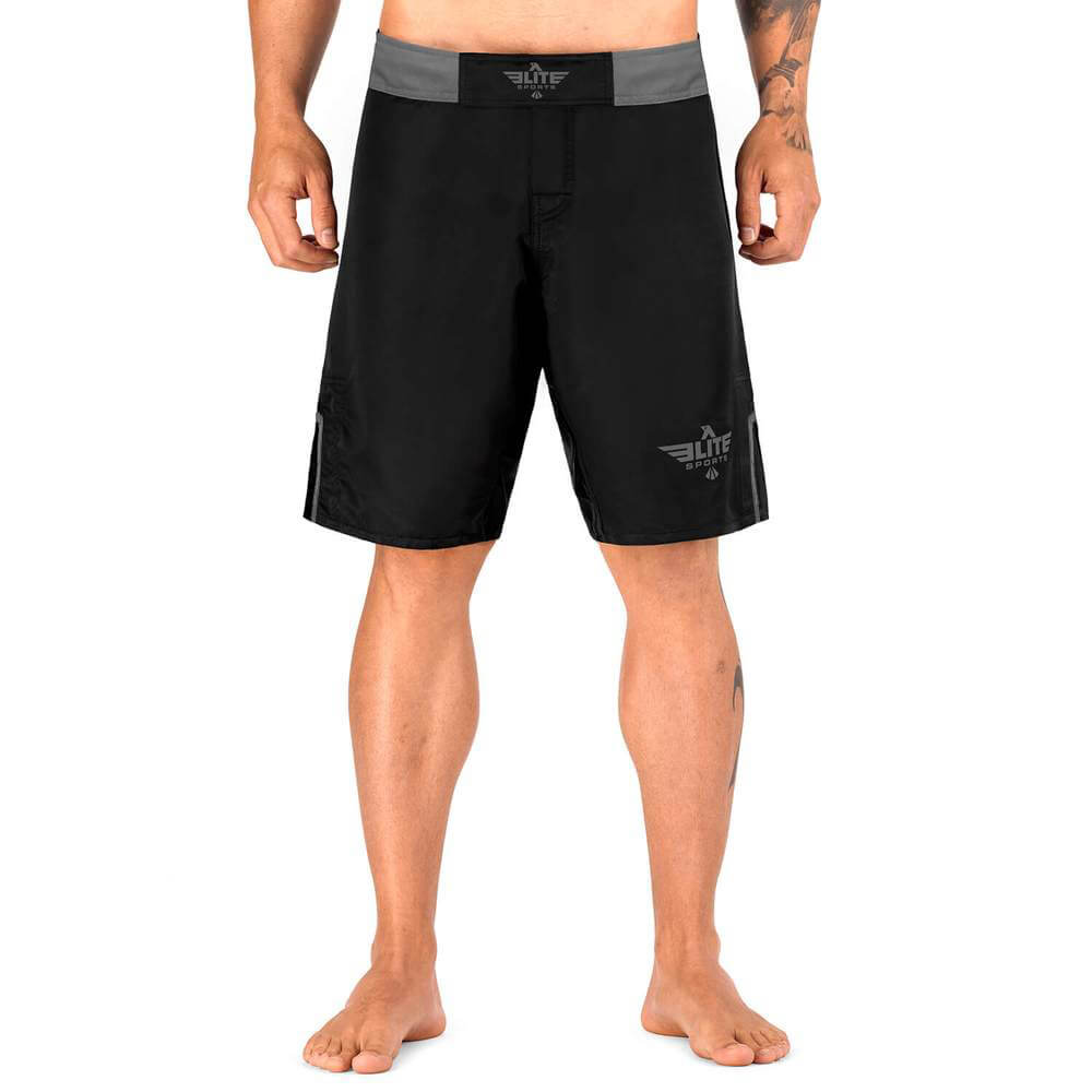 Elite Sports Black Jack Series Black/Gray MMA Shorts