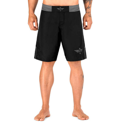 Elite Sports Black Jack Series Black/Gray Brazilian Jiu Jitsu BJJ No Gi Shorts