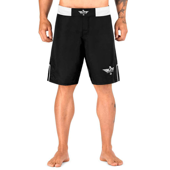 Elite Sports Black Jack Series Black/White Training Shorts