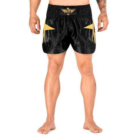 Elite Sports Star Series Sublimation Gold Muay Thai Shorts