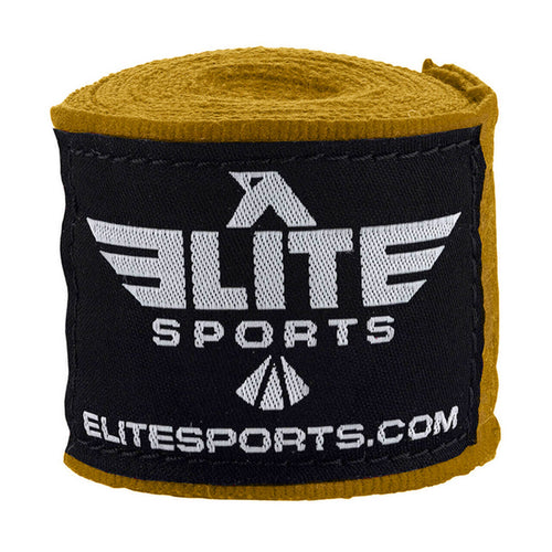 Elite Sports Golden Muay Thai Hand Wraps