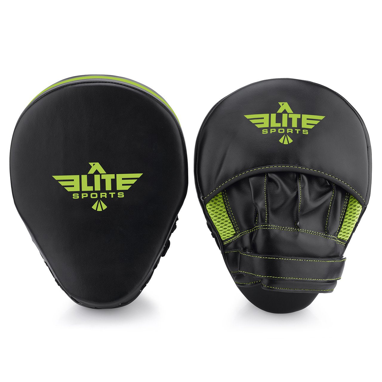 Elite Sports Essential Curved Black/Hi Viz Boxing Punching Mitts