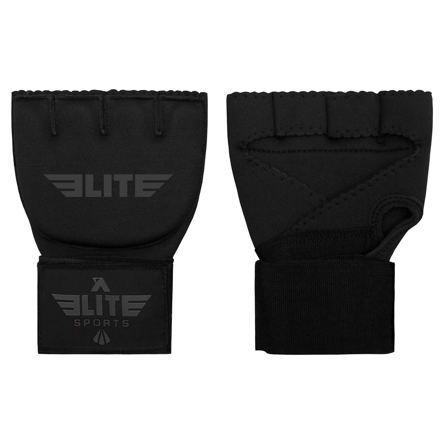 Load image into Gallery viewer, Elite Sports Black/Gray Cross Training Quick Gel Hand Wraps
