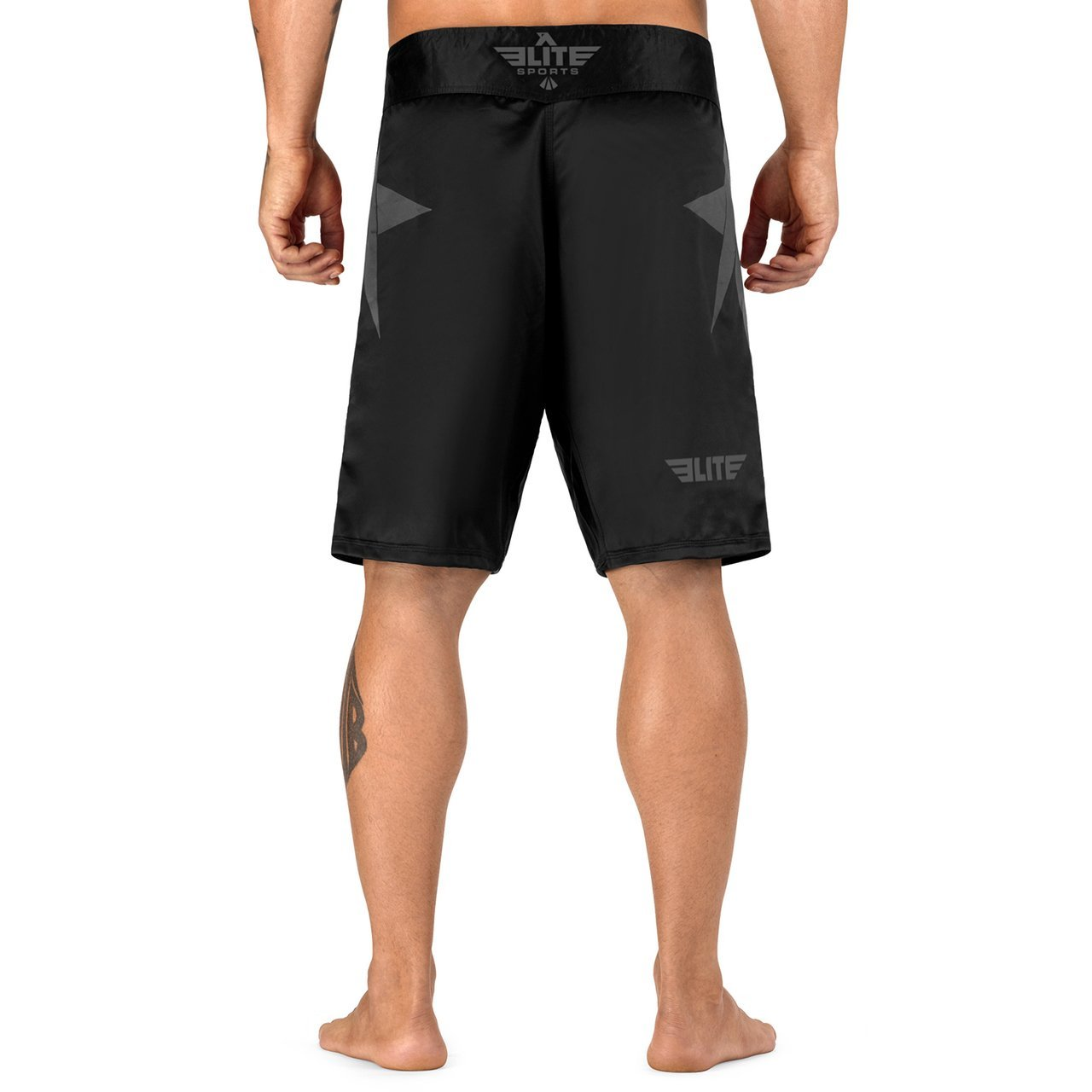 Load image into Gallery viewer, Elite Sports Star Series Sublimation Black/Gray MMA Shorts