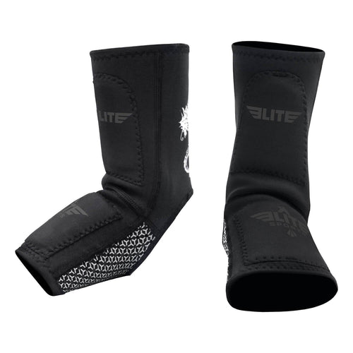 Elite Sports Gray Muay Thai Ankle Guards