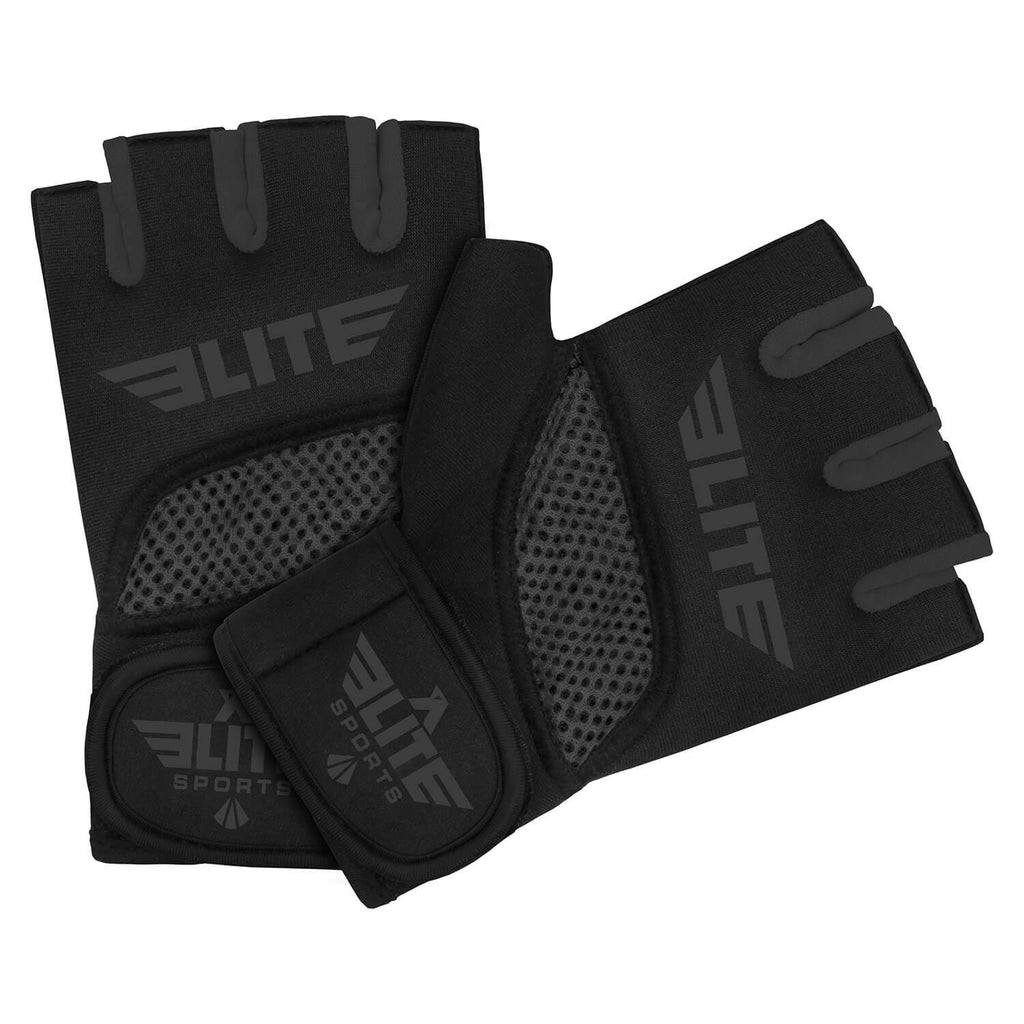 Elite Sports Black/Gray Cross Training Gel Hand Wraps