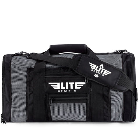 Elite Sports Mesh Gray Large Boxing Gear Gym Bag