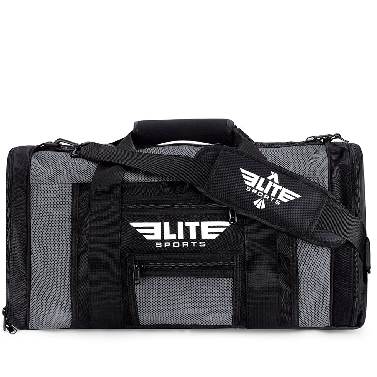 Elite Sports Mesh Gray Large Wrestling Gear Gym Bag