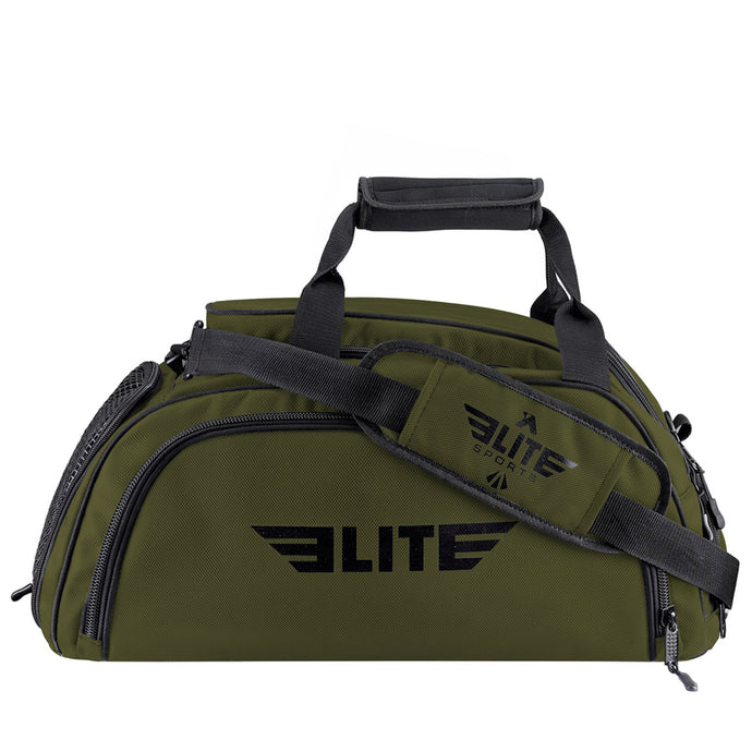 Elite Sports Warrior Series Military Green Large Duffel Training Gear Gym Bag & Backpack