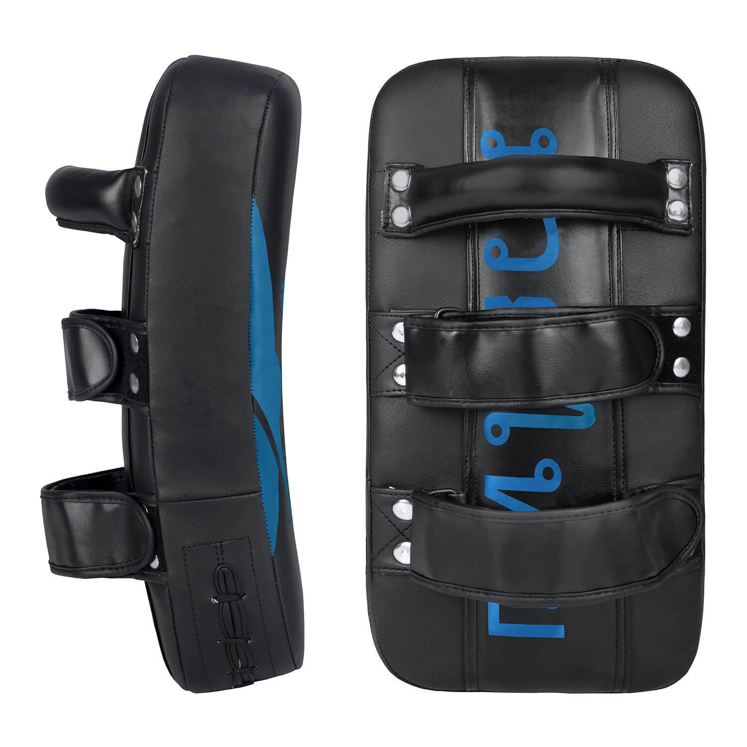 Load image into Gallery viewer, Elite Sports Black/Blue Muay thai Kick Pad