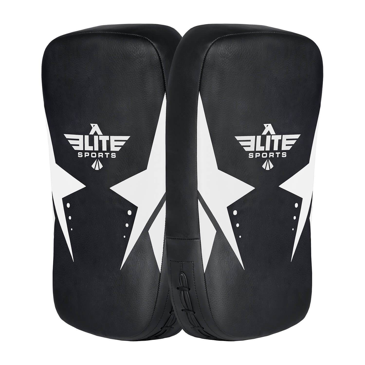 Load image into Gallery viewer, Elite Sports Black/White Muay thai Kick Pad