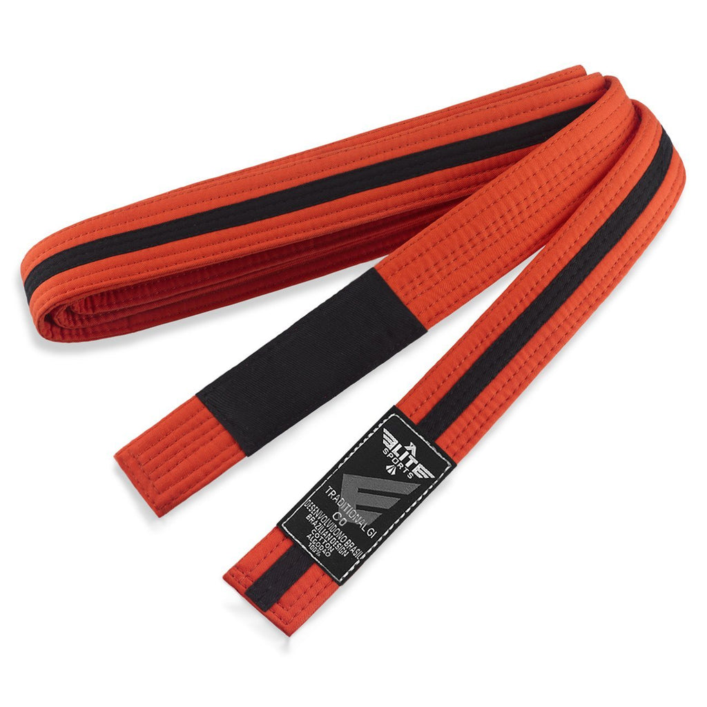 Elite Sports Kids Brazilian Jiu Jitsu BJJ Orange/Black Belt
