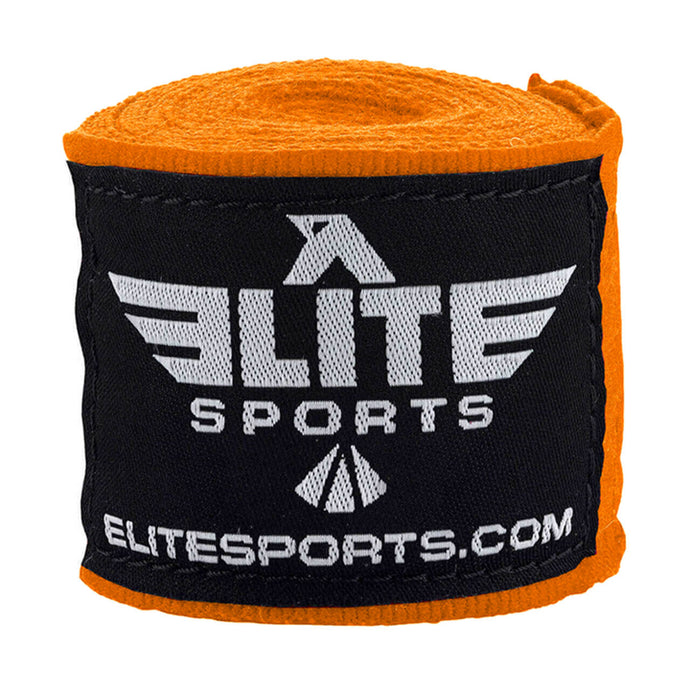 Elite Sports Orange Muay Thai Hand Wraps