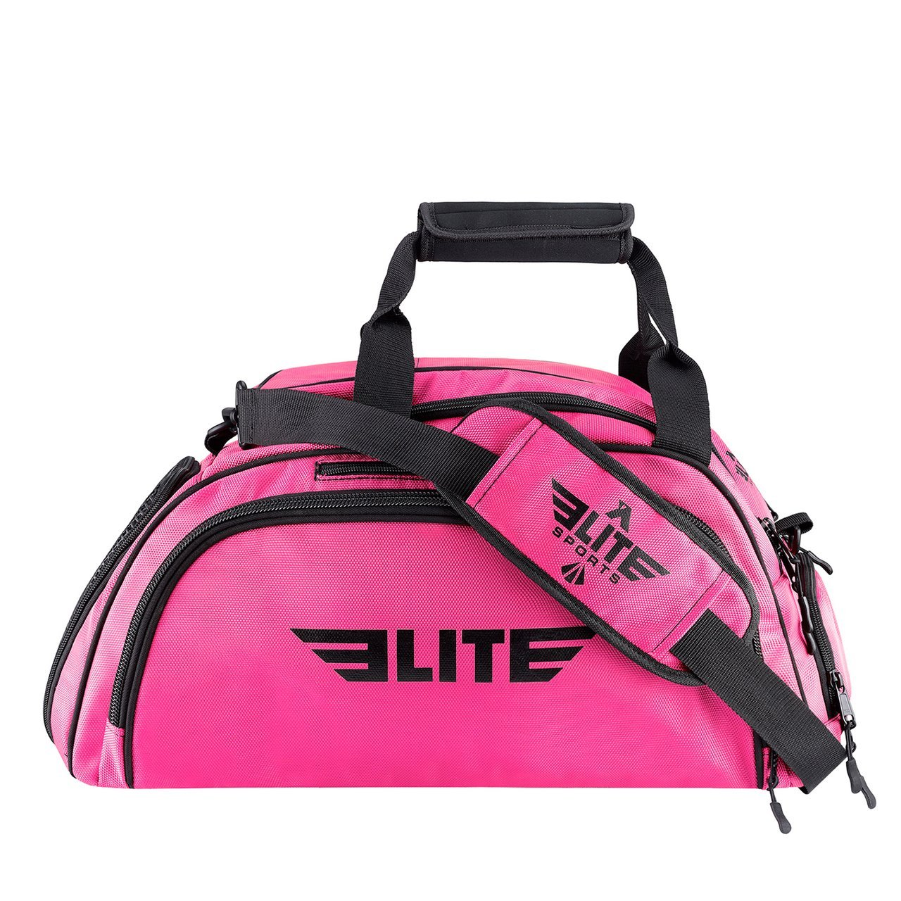 Elite Sports Warrior Series Medium Pink Boxing MMA BJJ Gear Gym Duffel Bag & Backpack