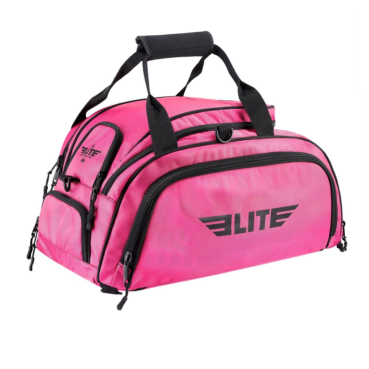 Load image into Gallery viewer, Elite Sports Warrior Series Pink Large Duffel Brazilian Jiu Jitsu BJJ Gear Gym Bag & Backpack