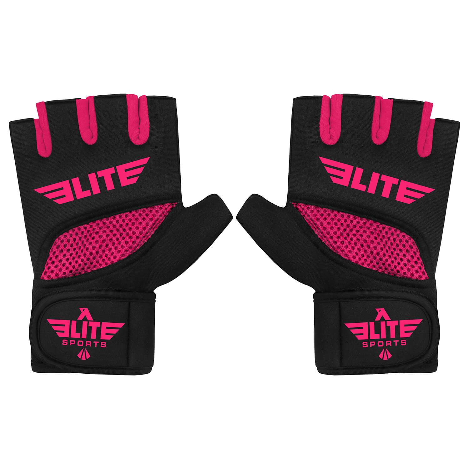 Elite Sports Black/Pink Cross Training Gel Hand Wraps