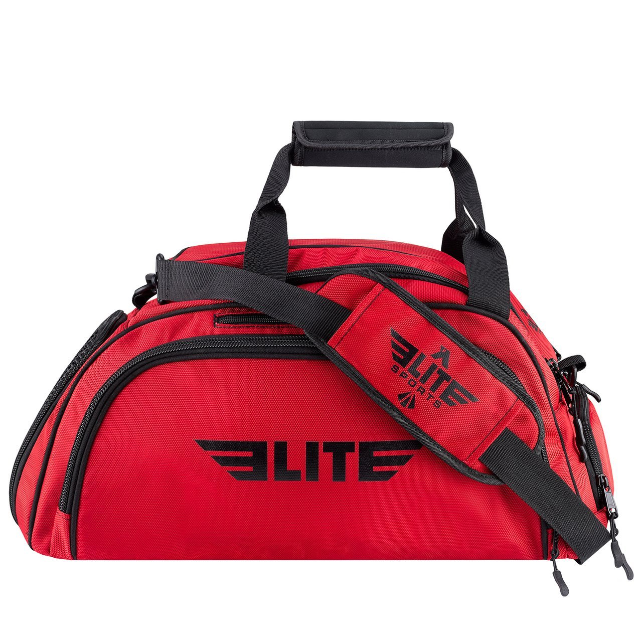 Elite Sports Warrior Series Red Large Duffel Muay Thai Gear Gym Bag & Backpack