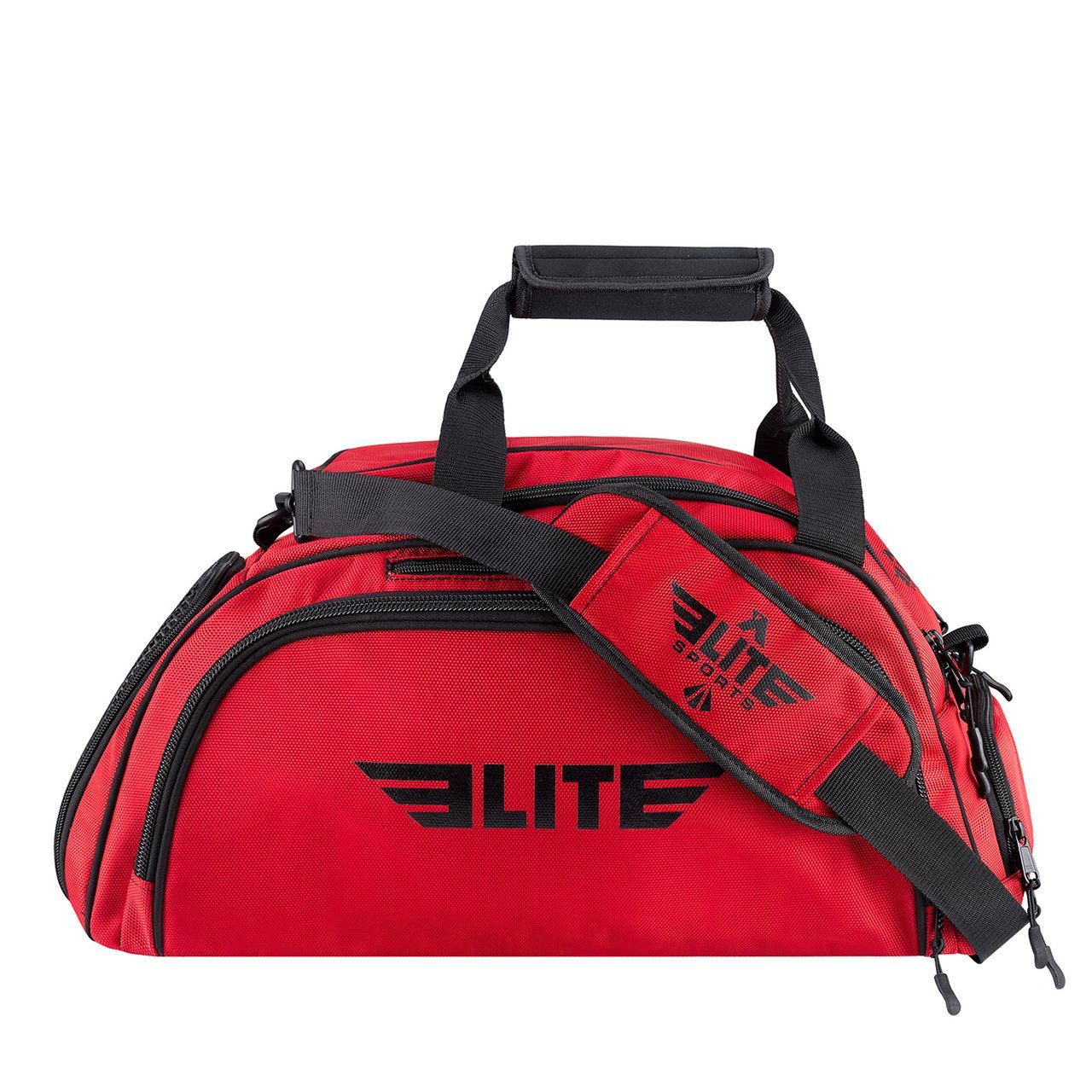 Load image into Gallery viewer, Elite Sports Warrior Series Medium Red Boxing MMA BJJ Gear Gym Duffel Bag & Backpack