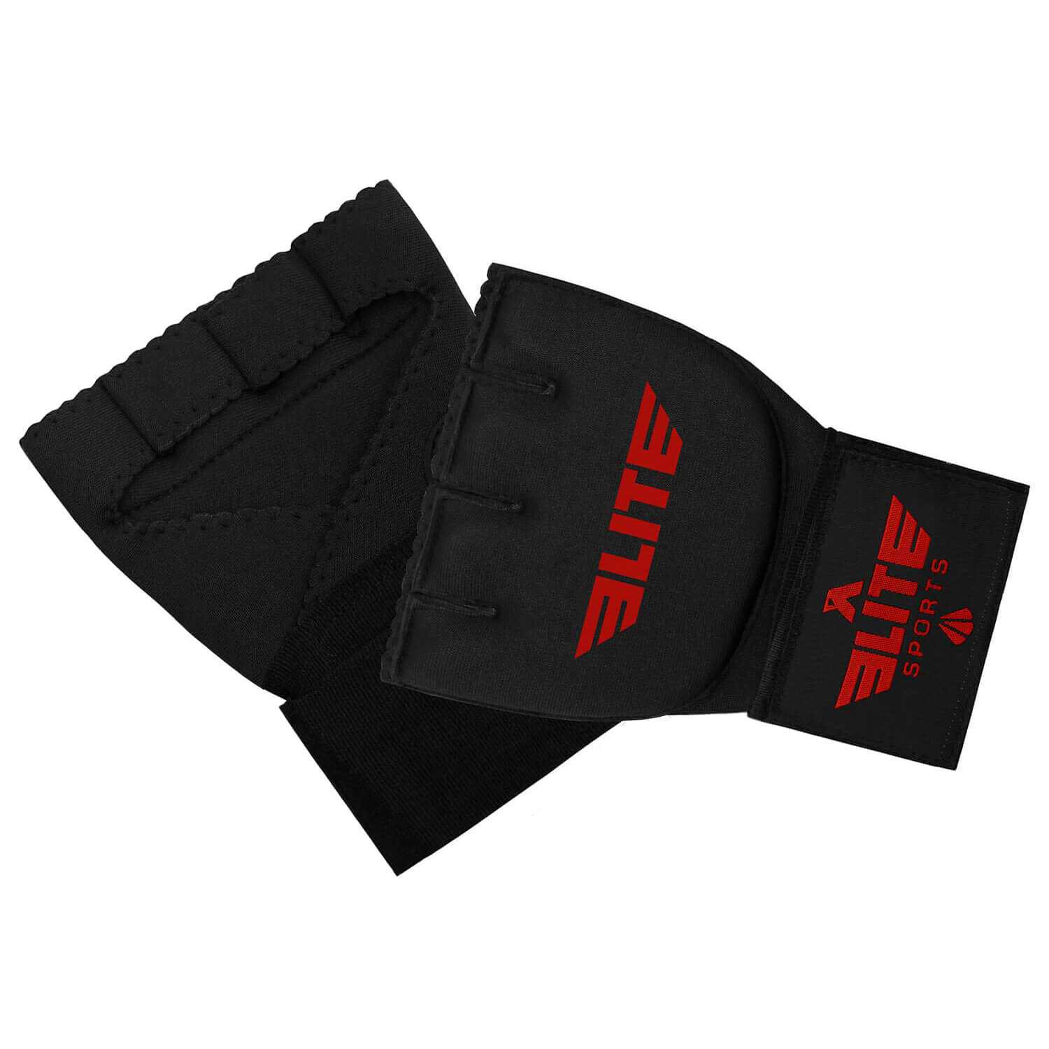Load image into Gallery viewer, Elite Sports Black/Red Cross Training Quick Gel Hand Wraps